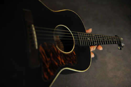 This guitar belonged to Snoozer Quinn in his later years.